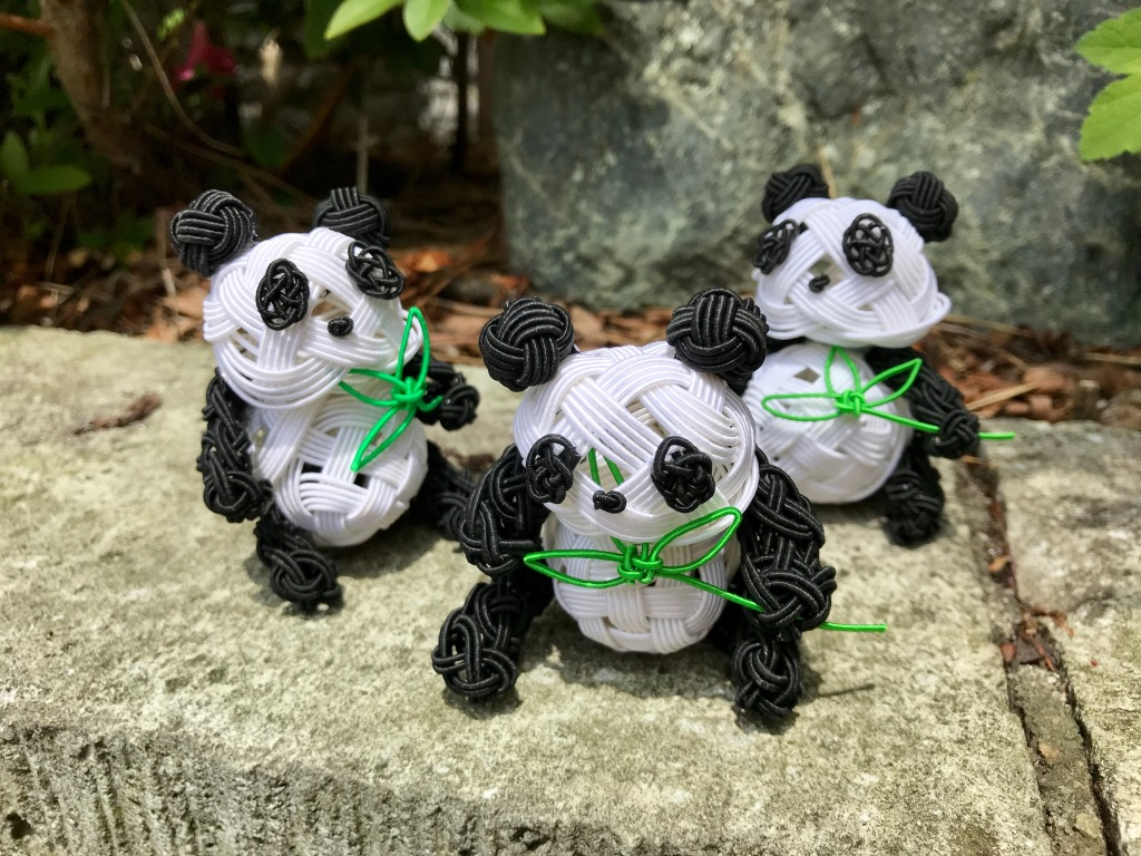 水引で作るパンダ