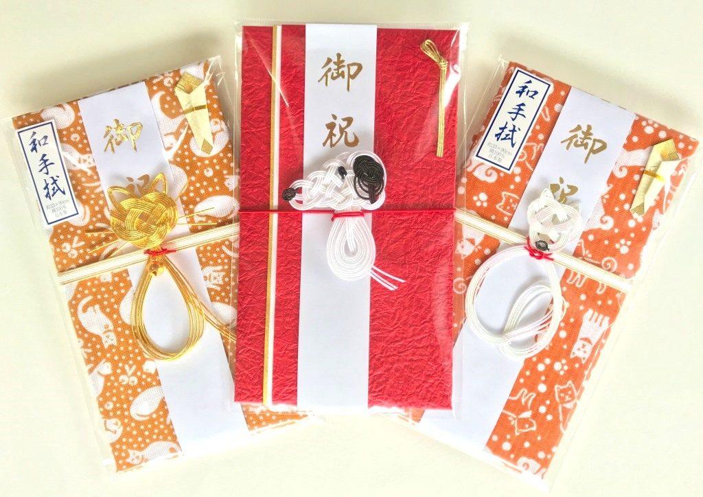 オリジナルご祝儀袋3点 スヌーピー、猫、犬