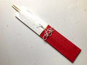 水引鶴の箸飾り