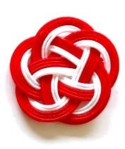 水引5本梅結び 赤赤赤白白 33mm