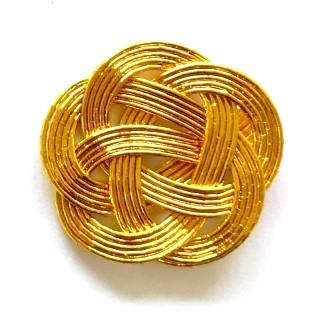 金色の水引梅結び ゴム無し 直径35mm