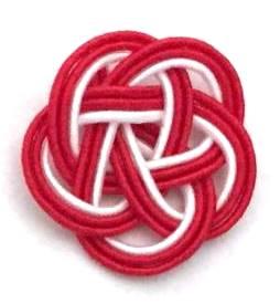 水引3本梅結び 赤赤白