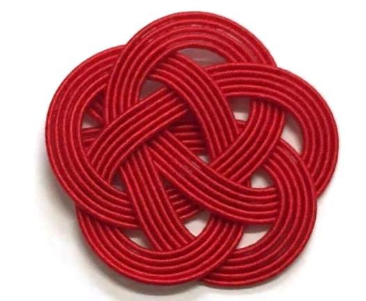ゴム無しの水引梅結び 人気ランキング 色別 3位 40mm 赤赤赤赤赤