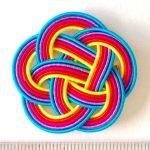 5色の水引紐5本の梅結び