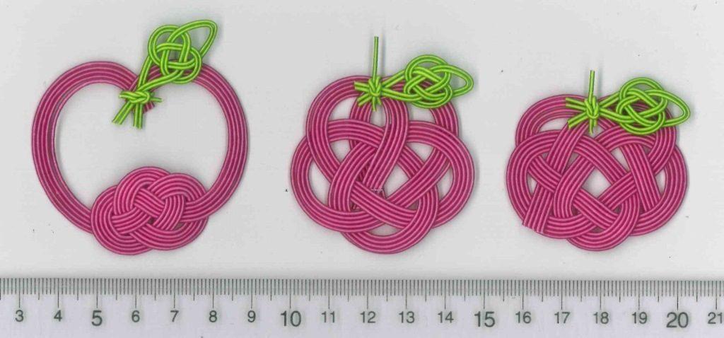 水引飾り結びで表現したりんご