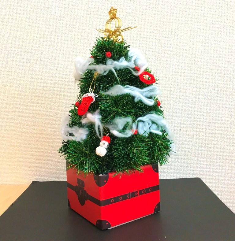 水引で作ったクリスマスツリーです!
