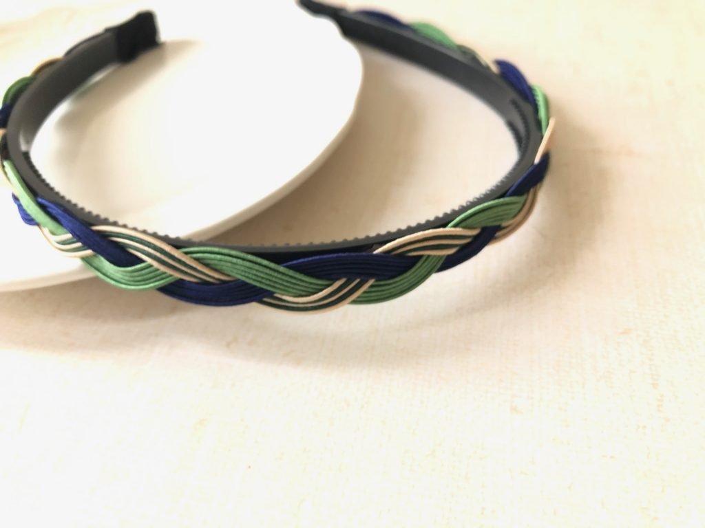 水引三つ編みカチューシャ