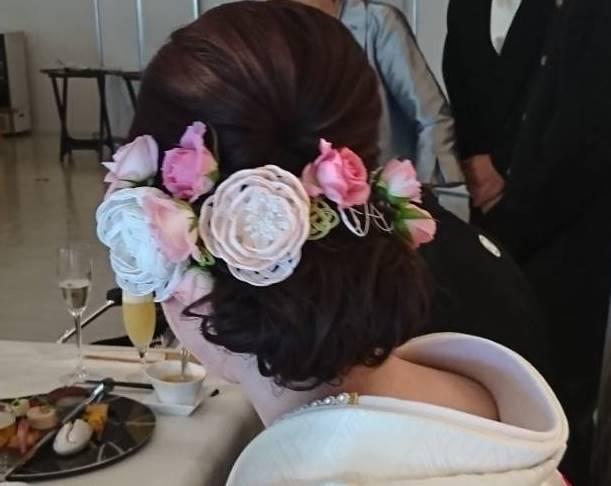 結婚式の水引ヘアアクセサリー