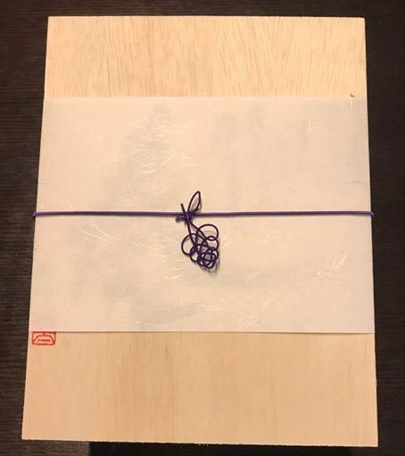 亀結びを応用して作った葡萄の水引細工
