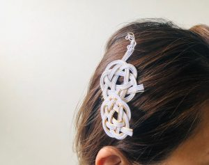 水引椿結びヘア飾り