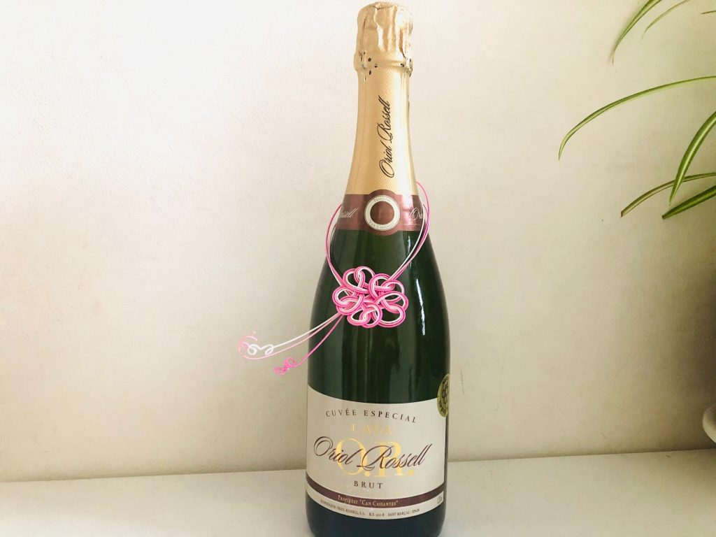 水引桜結びボトル飾り
