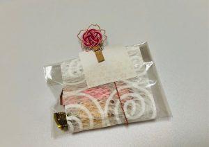 水引梅結びの桜クリップ