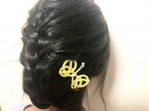 水引蝶々の髪飾り