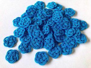 水引3本梅結びブルー